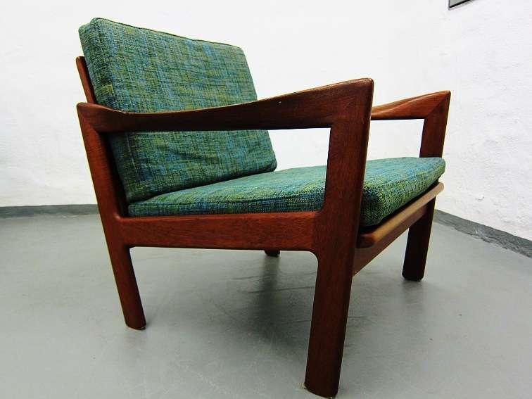 2 teak sessel 50er 60er illum wikkelsoe n eilersen ebay. Black Bedroom Furniture Sets. Home Design Ideas