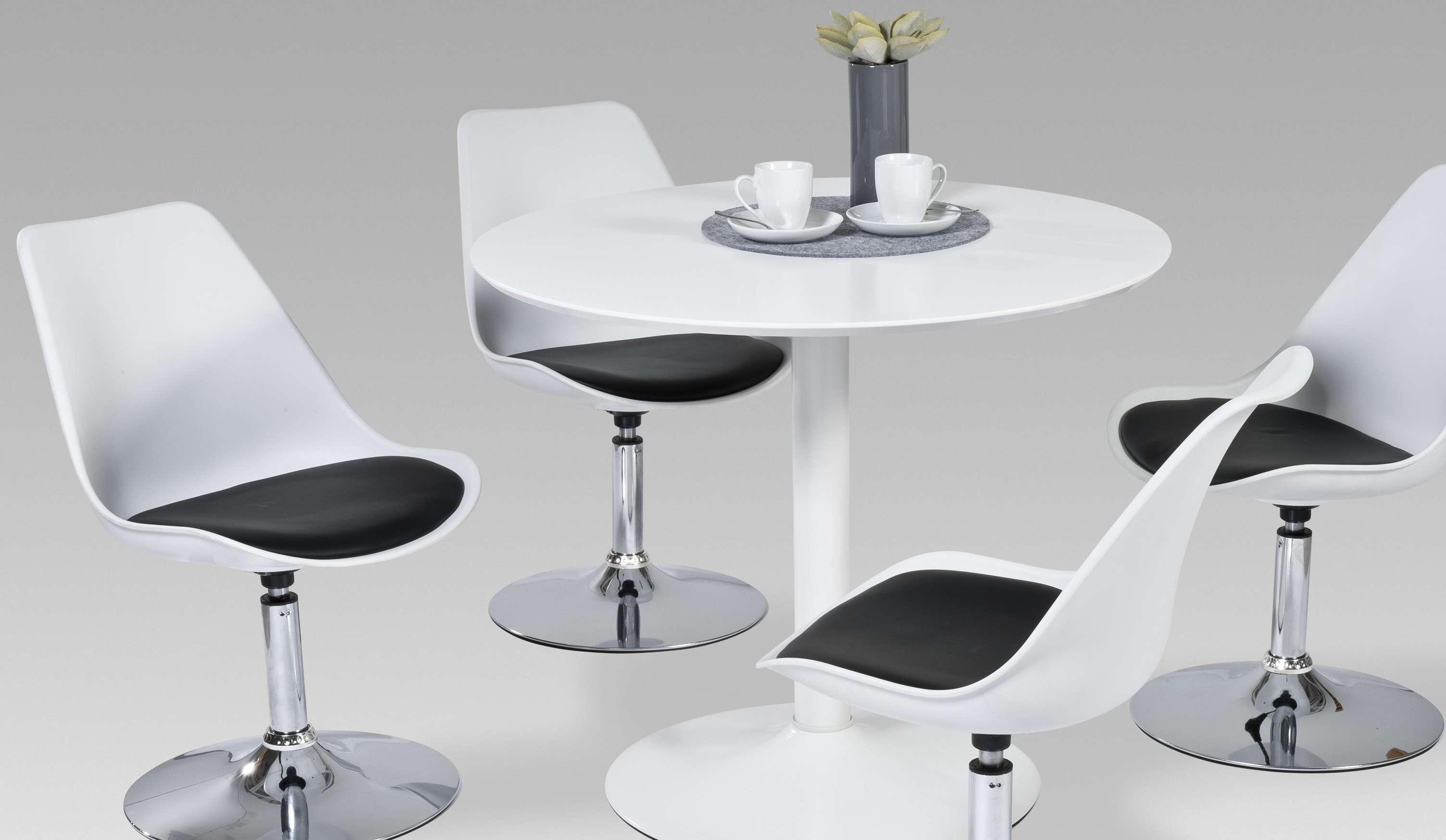esstisch esszimmertisch k chentisch tisch hochglanz weiss wei rund modern. Black Bedroom Furniture Sets. Home Design Ideas