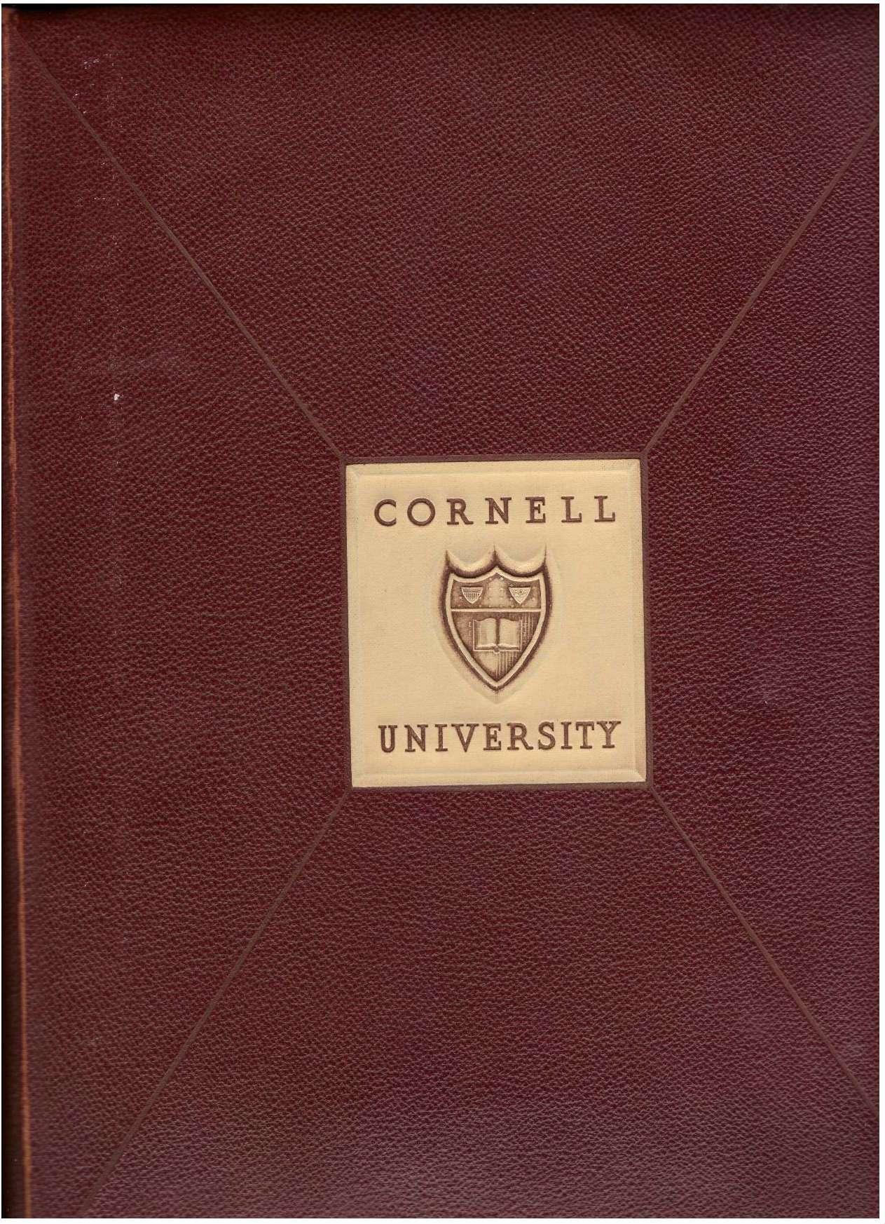 """Cornellian"" Cornell University Yearbook Annual 1940, Cornell University Yearbook"